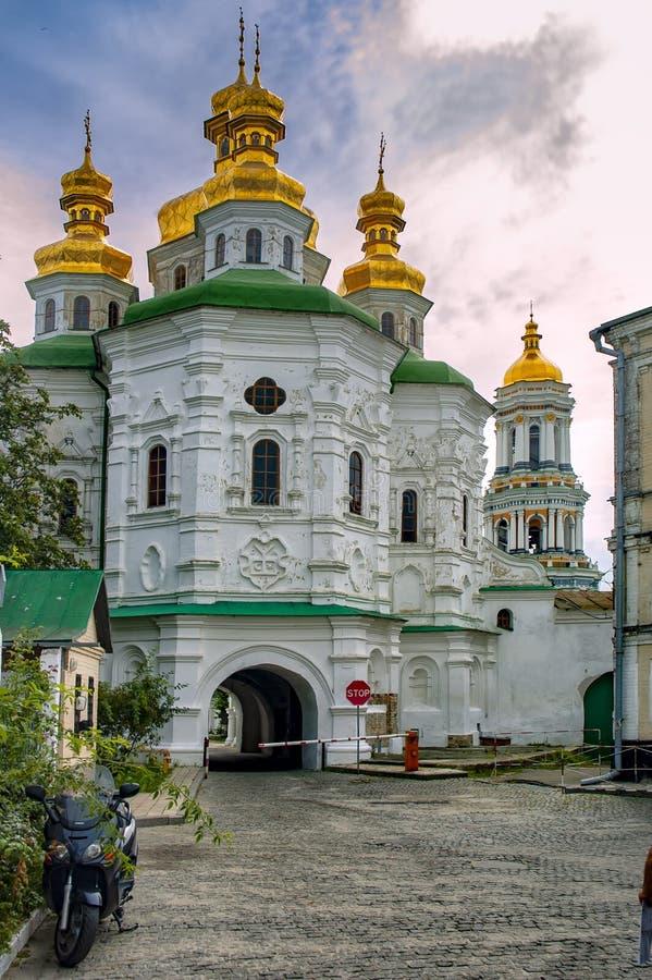 Kiev Pechersk Lavra eller Kyiv Pechersk Lavra arkivfoton