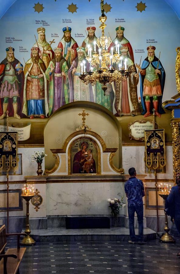 Kiev Pechersk Lavra eller Kyiv Pechersk Lavra royaltyfria bilder