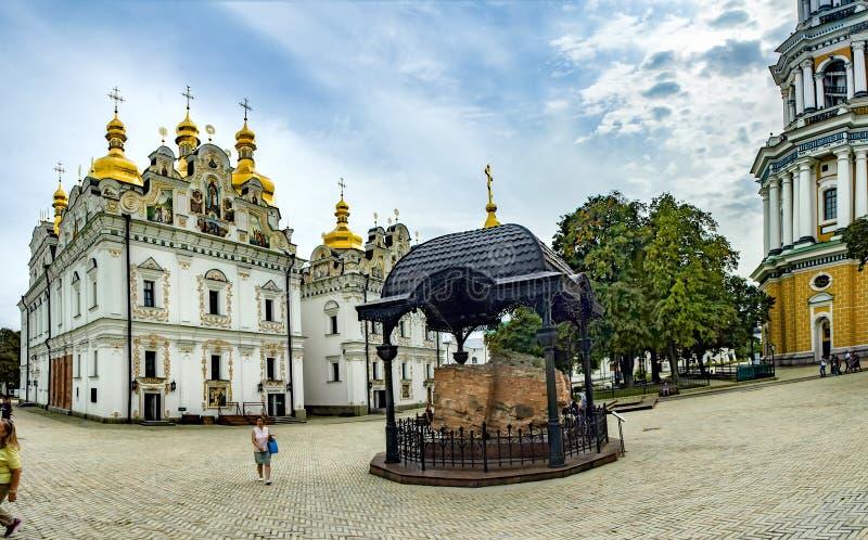 Kiev Pechersk Lavra eller Kyiv Pechersk Lavra arkivbild