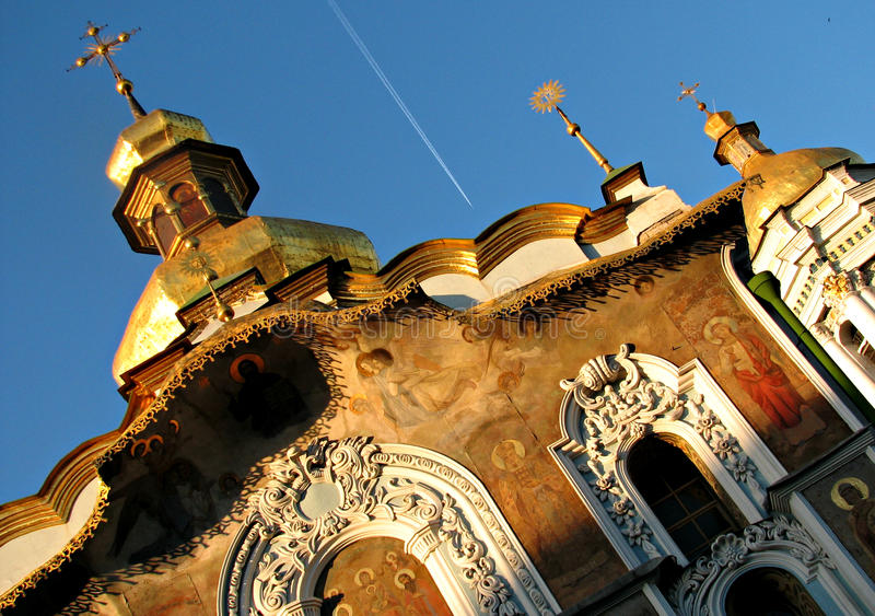 Kiev Pechersk Lavra o Kyiv Pechersk Lavra, primavera immagini stock libere da diritti