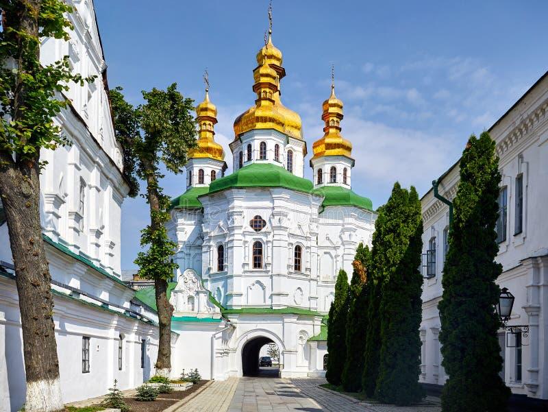 Kiev Pechersk Lavra Orthodox Church arkivbild