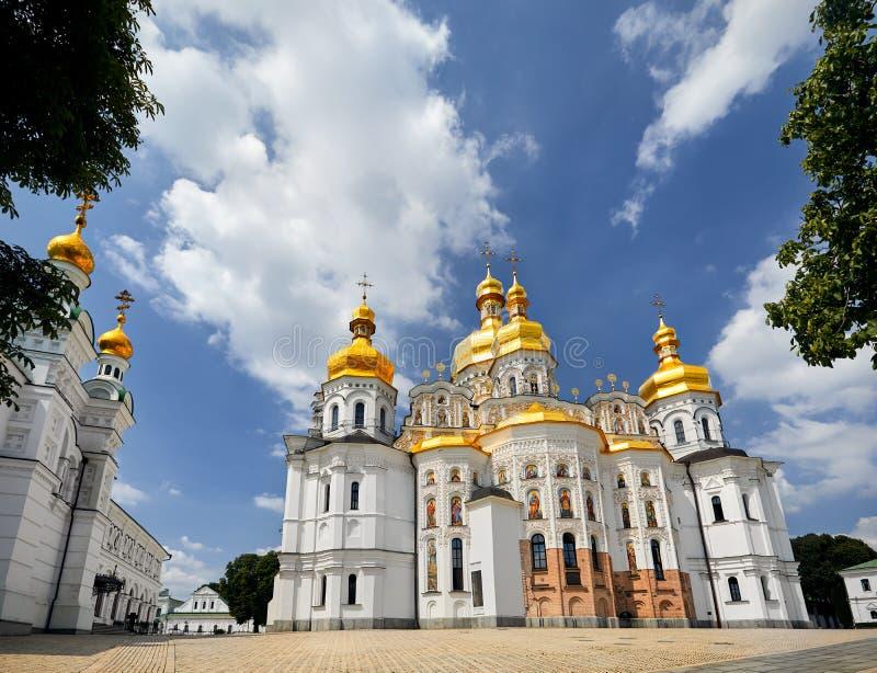 Kiev Pechersk Lavra Orthodox Church royaltyfri bild