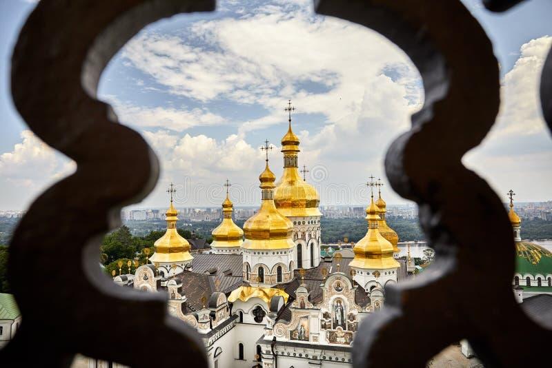 Kiev Pechersk Lavra Orthodox Church fotografering för bildbyråer