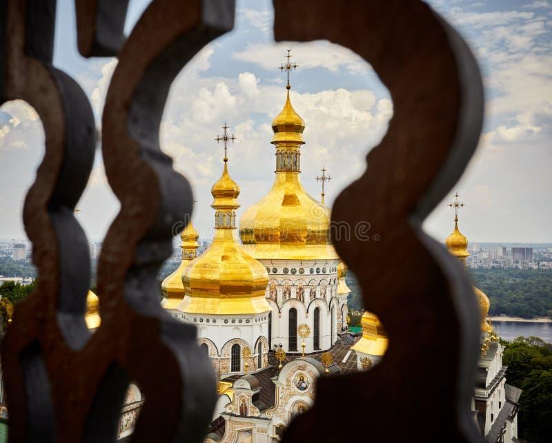 Kiev Pechersk Lavra Orthodox Church arkivbilder