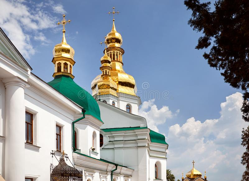 Kiev Pechersk Lavra Orthodox Church stock photo