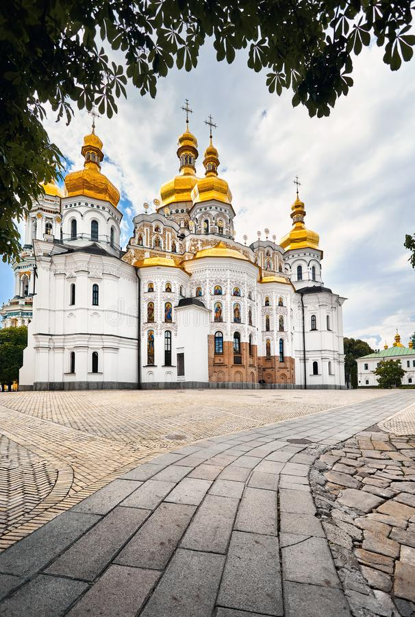 Kiev Pechersk Lavra Orthodox Church stock photography