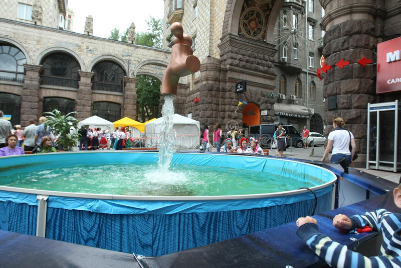 Kiev pendant l'été image stock