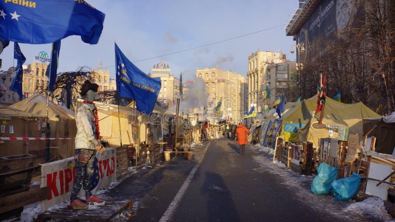 Kiev protesteert 2014 stock foto