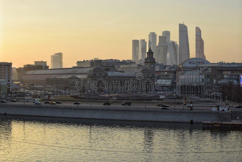 Kiev railway station. Moscow Kiev railway station stock image