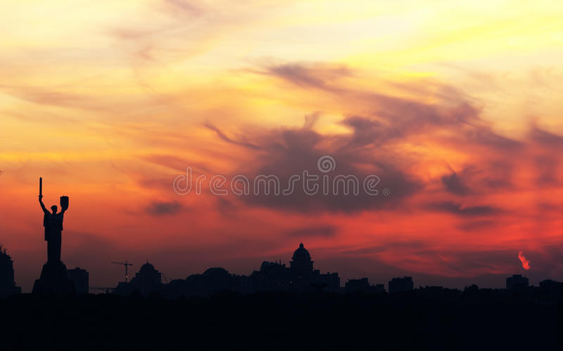 Download Kiev skyline stock image. Image of coloured, motherland - 21269167