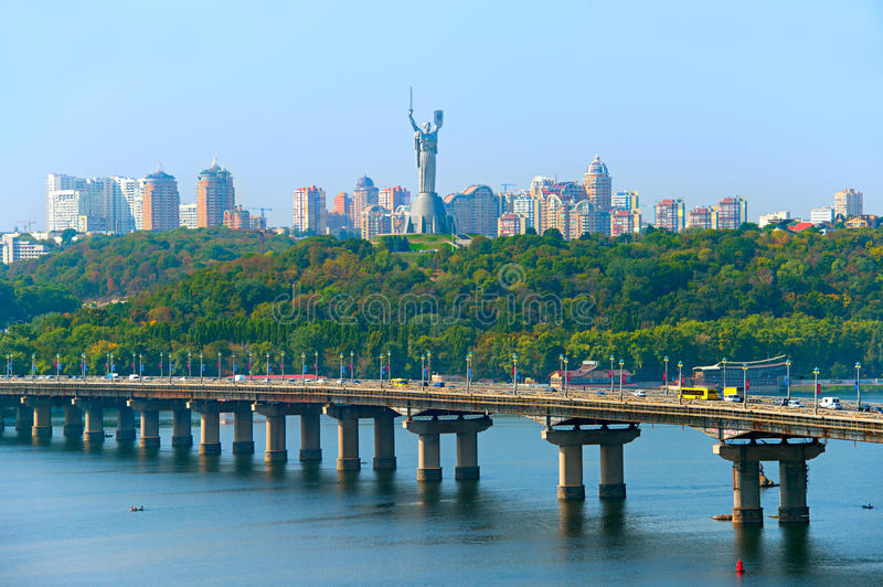 Kiev skyline, Ukraine royalty free stock photo