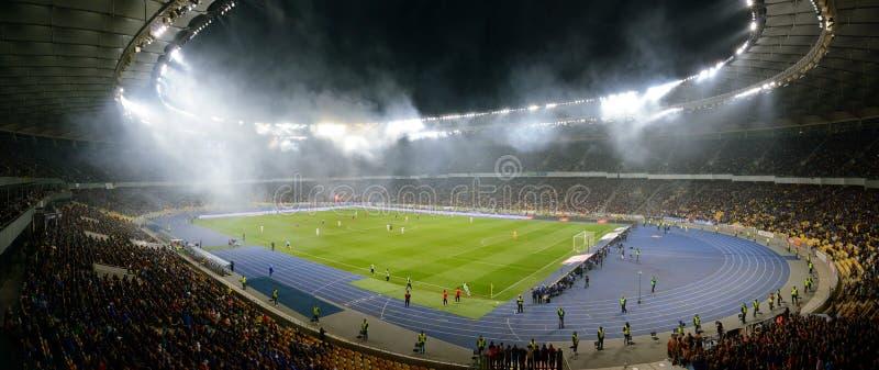 Kiev soccer arena, panorama royalty free stock image