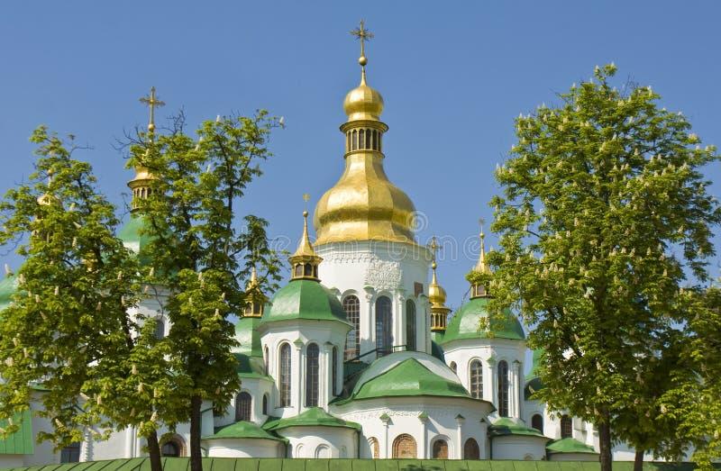Kiev Sofiyskiy (St. Sofiyas) domkyrka royaltyfri foto