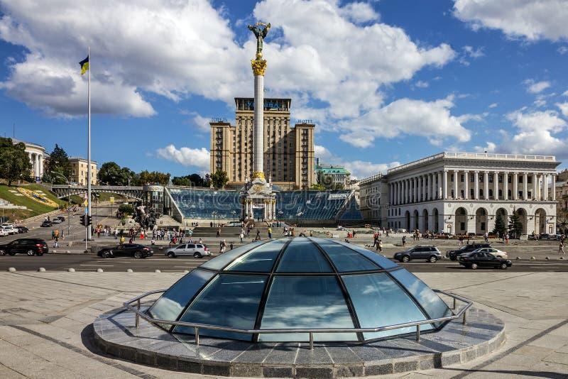Kiev stad, Ukrain Självständighet kvadrerar arkivfoton