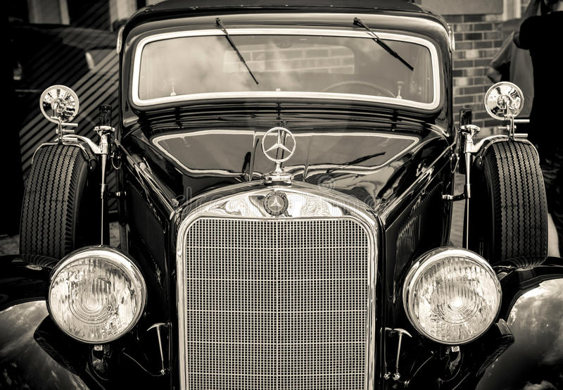 Kiev, Ucrânia 16 de julho de 2016: Vintage Mercedes foto de stock