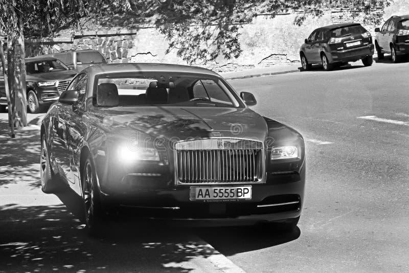 Kiev, Ucrânia 10 de junho de 2017 APARIÇÃO DE ROLLS ROYCE Pequim, foto preto e branco de China imagem de stock royalty free