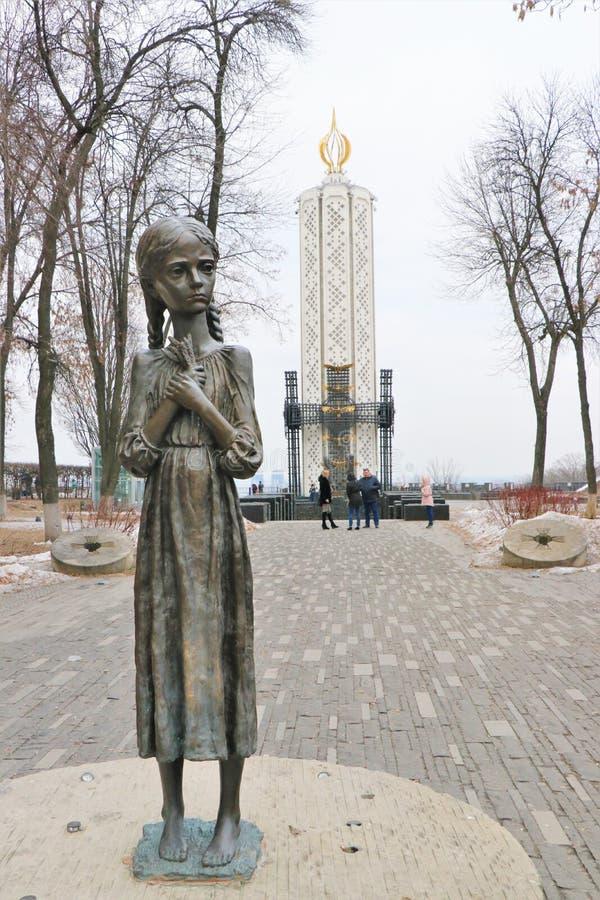 Kiev, Ucrânia Monumento do memorial às vítimas de Holodomor imagem de stock royalty free