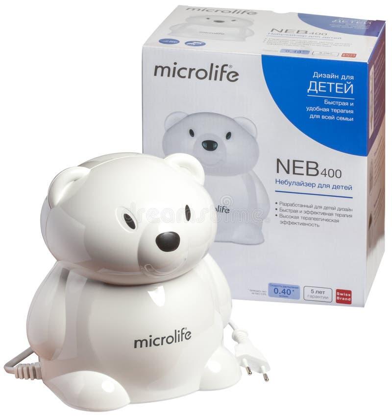 KIEV, UCRÂNIA - 9 de julho de 2019: nebulizer para crianças sob a forma de um urso polar fotos de stock royalty free