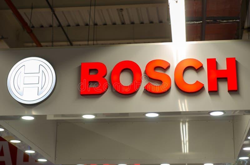 Kiev, Ucraina - 9 aprile 2018: Insegna di Bosch immagini stock