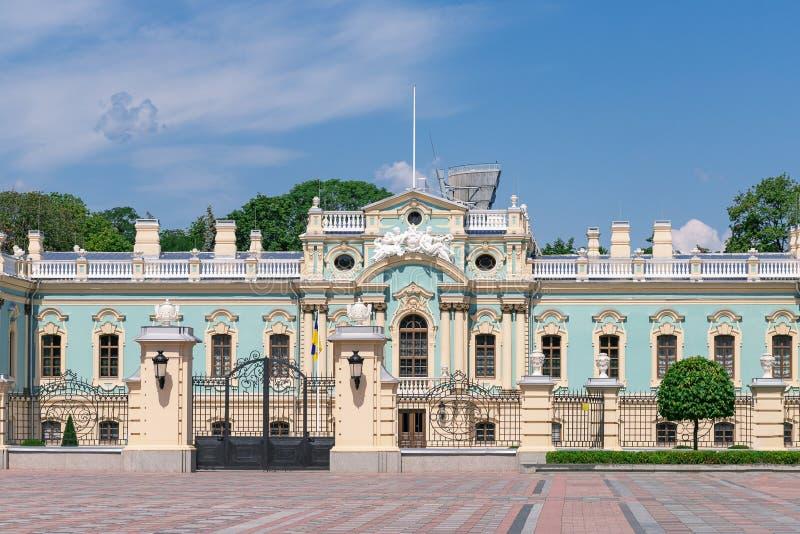 Kiev, Ucraina - 20 luglio 2019: Palazzo di Mariinsky Residenza del Presidente dell'Ucraina immagine stock libera da diritti