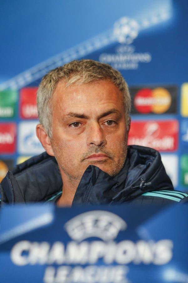 KIEV, UCRAINA - 20 OTTOBRE: Jose Mourinho immagini stock libere da diritti