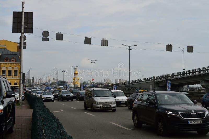 Kiev, Ucraina Ucraina 7 05 2019; Trasporto nella vita della città e di Kiev immagine stock