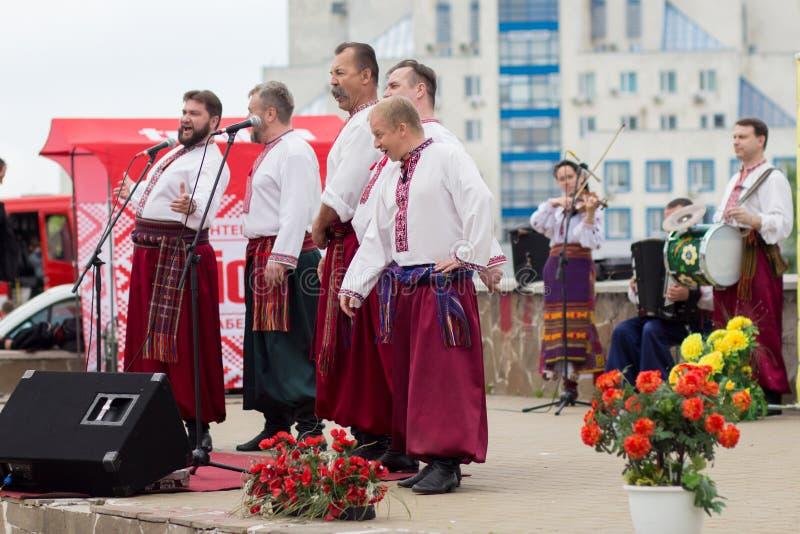 kiev ucrania 05/12/2019 Conjunto de la canción y de la danza de gente, foto de archivo libre de regalías