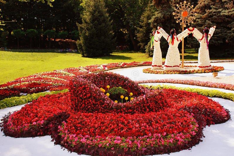 KIEV, UCRANIA - 23 DE AGOSTO: exposición de la flor en Kiev, Ucrania fotografía de archivo