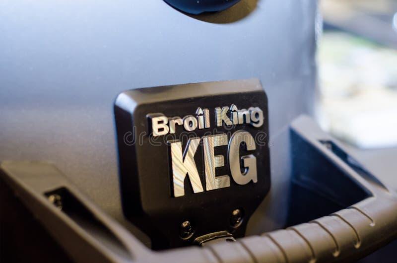 Kiev, Ucrania - 20 de marzo de 2019: Primer de Broil King Grill fotografía de archivo libre de regalías