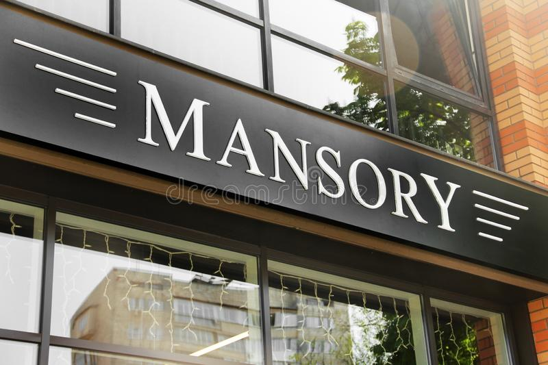 Kiev, Ucrania - 3 de mayo de 2019: Salón del automóvil de Mansory en la ciudad foto de archivo libre de regalías