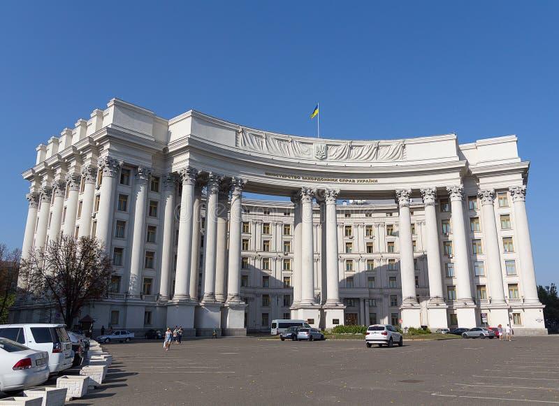 Kiev, Ucrania - 19 de septiembre de 2015: Edificio del Ministerio de Asuntos Exteriores de Ucrania fotos de archivo libres de regalías
