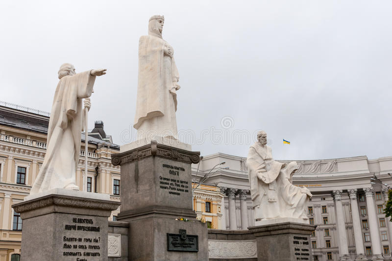 KIEV, UCRANIA - 6 DE SEPTIEMBRE DE 2015: Monumento a fotos de archivo