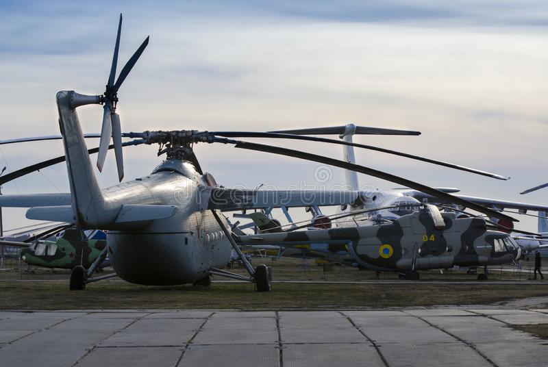 Kiev, Ucrania, el 7 de marzo de 2019 - museo nacional de la aviación editorial foto de archivo libre de regalías