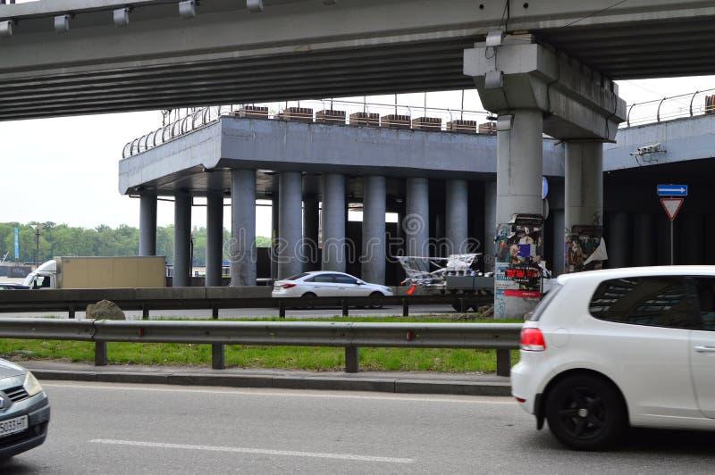 Kiev, Ucrania Ucrania 7 05 2019; Transporte en la vida de Kiev y de ciudad foto de archivo libre de regalías