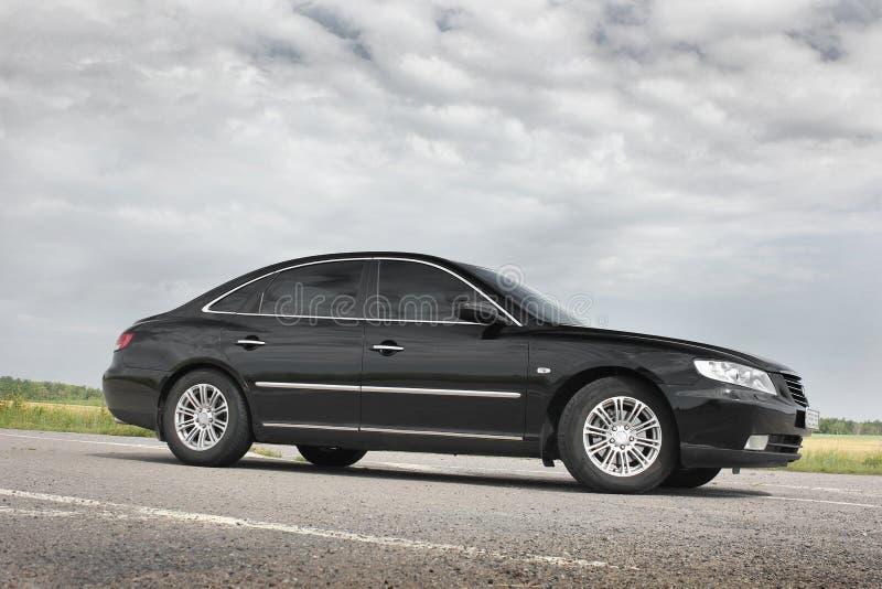 Kiev Ukraina - Augusti 6, 2018: Hyundai prakt p? v?gen royaltyfri fotografi