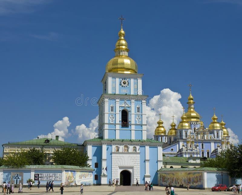 Kiev Ukraina, Mihaylovskiy domkyrka arkivbilder