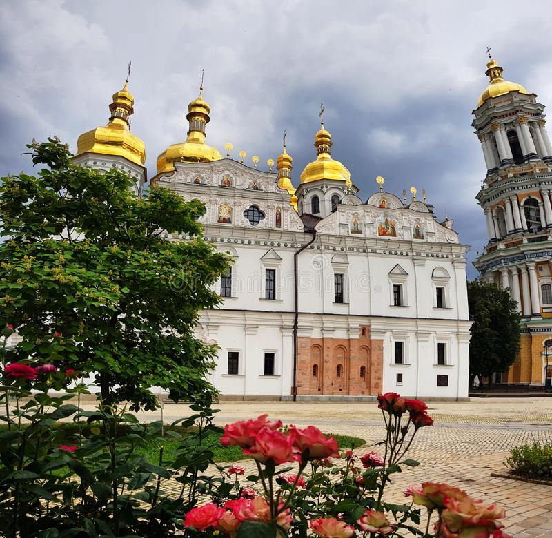 Kiev Ukraina Pechersk Lavra kloster - Unesco-arv arkivbild