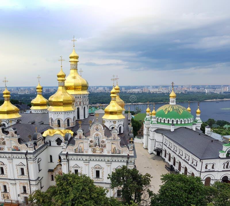 Kiev Ukraina Pechersk Lavra kloster - Unesco-arv arkivfoto