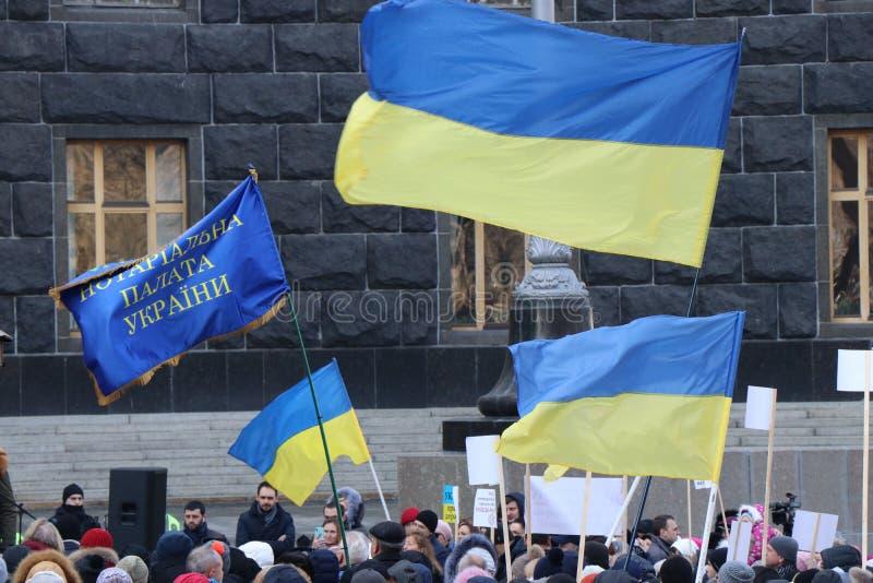 Kiev, Ukraine Anti demostration de corruption quelques semaines avant des élections photo stock