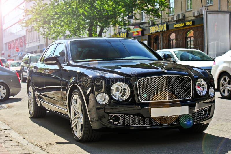 Kiev, Ukraine; April 20, 2015. Bentley Mulsanne in the city. Ukraine; April 20, 2015. Bentley Mulsanne in the city royalty free stock images