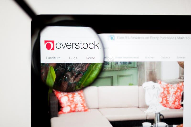 Kiev, Ukraine - april 6, 2019: Website of Overstock.com. Overstock is an American internet retailer of home goods royalty free stock image