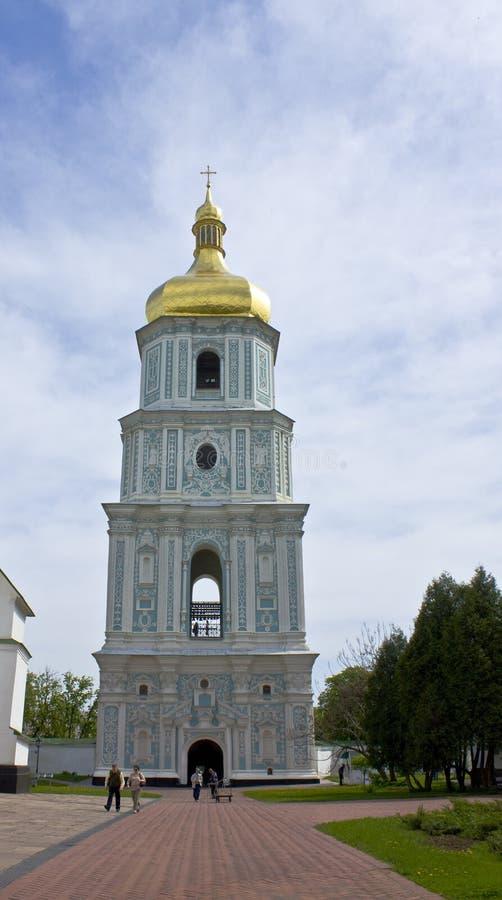 Kiev, Ukraine, bell tower of Sofiyiskiy cathedral stock photo