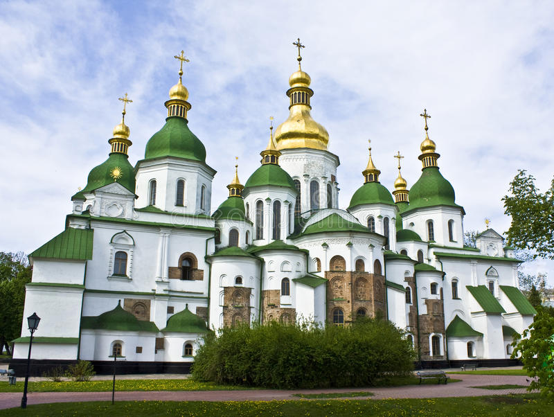 Kiev, Ukraine, cathédrale de Sofiyiskiy images stock