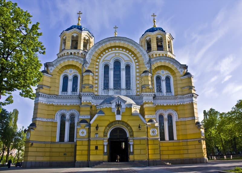 Kiev, Ukraine, cathédrale de Vladimirskiy image libre de droits