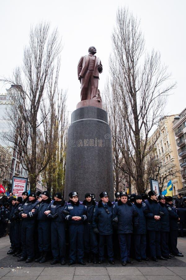 KIEV, UKRAINE - DECEMBER 1: Pro-Europe protest in Kiev. On december 1, 2013, Kiev, Ukraine stock photos