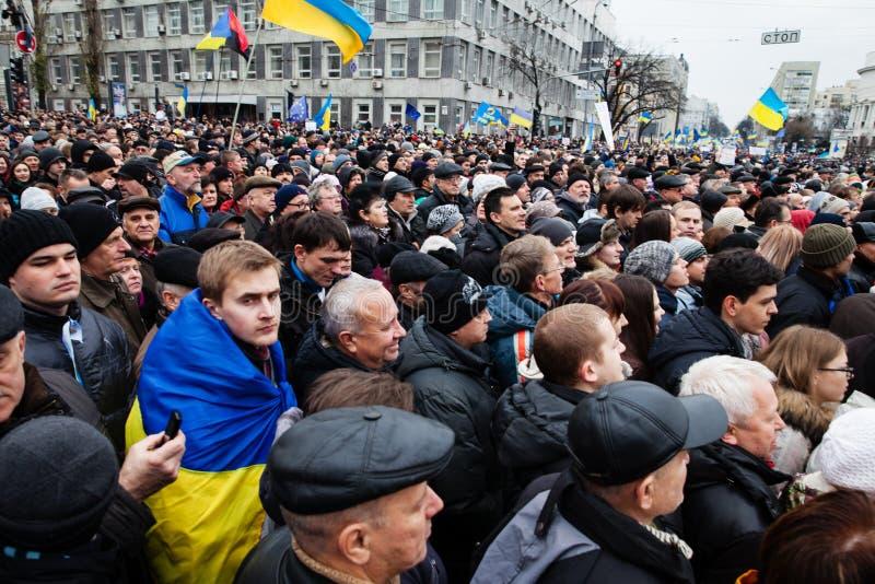KIEV, UKRAINE - DECEMBER 1: Pro-Europe protest in Kiev. On december 1, 2013, Kiev, Ukraine stock images