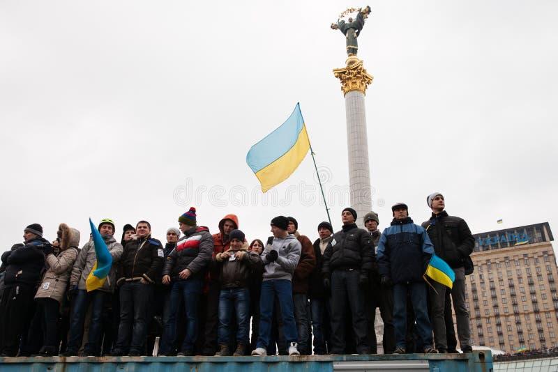 KIEV, UKRAINE - DECEMBER 1: Pro-Europe protest in Kiev. On december 1, 2013, Kiev, Ukraine stock image