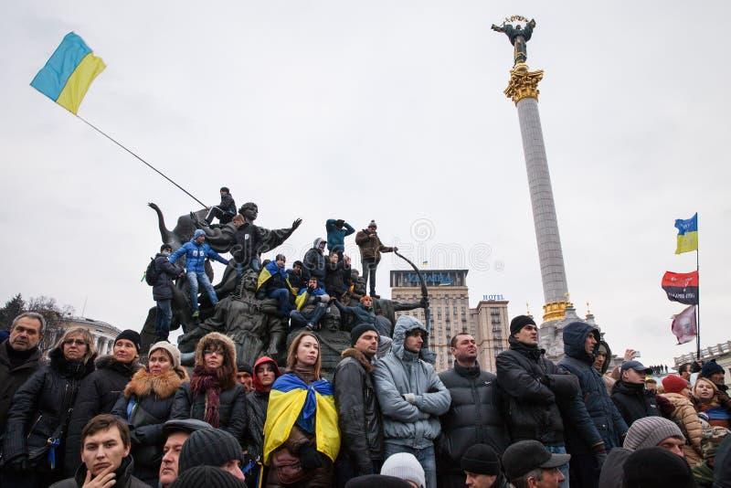 KIEV, UKRAINE - DECEMBER 1: Pro-Europe protest in Kiev. On december 1, 2013, Kiev, Ukraine royalty free stock photography