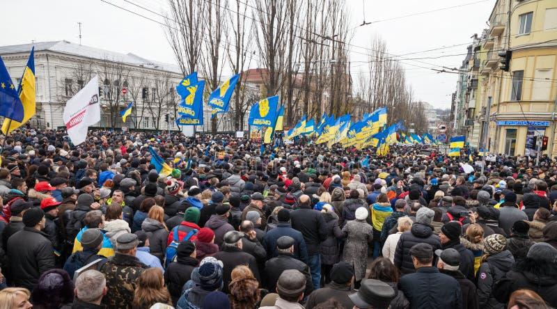KIEV, UKRAINE - DECEMBER 1: Pro-Europe protest in Kiev. On december 1, 2013, Kiev, Ukraine royalty free stock images