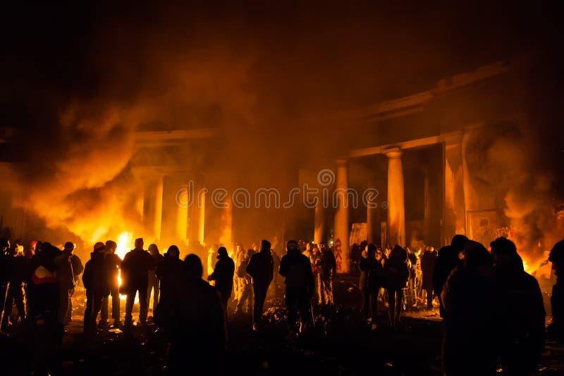 KIEV, UKRAINE - January 24, 2014: Mass Anti-government Protests Editorial Photo